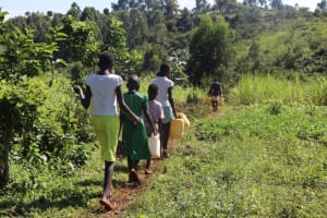 The Water Project: Lukala West Community, Luka Spring -  Headed To The Spring