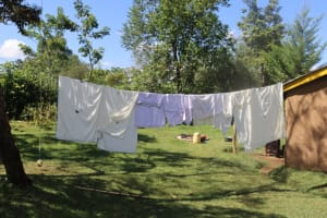 The Water Project: Lukala West Community, Luka Spring -  Clothesline