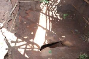 The Water Project: Lukala West Community, Luka Spring -  Latrine Floor