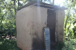 The Water Project: Lukala West Community, Luka Spring -  Latrine