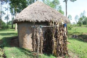 The Water Project: Litinye Community, Vuyanzi Spring -  Bathing Shelter