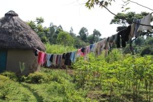 The Water Project: Litinye Community, Vuyanzi Spring -  Clothesline
