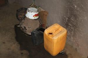 The Water Project: Litinye Community, Vuyanzi Spring -  Water Storage