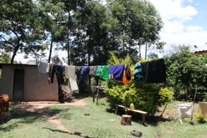 The Water Project: Luyeshe Community, Khausi Spring -  Clothesline