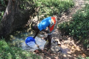 The Water Project: Luyeshe Community, Khausi Spring -  Sharon Fetching Water