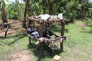 The Water Project: Luyeshe Community, Khausi Spring -  Dishrack