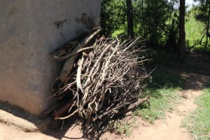 The Water Project: Luyeshe Community, Khausi Spring -  Outside Firewood Storage