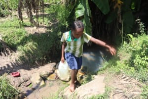 The Water Project: Kalenda A Community, Sanya Spring -  Leaving The Spring