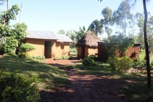 The Water Project: Lukala West Community, Angatia Spring -  A Homestead