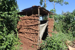 The Water Project: Lukala West Community, Angatia Spring -  A Latrine