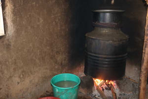 The Water Project: Lukala West Community, Angatia Spring -  The Fireplace Used For Cooking