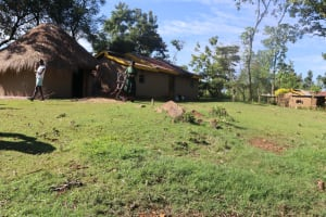 The Water Project: Lukala West Community, Angatia Spring -  Homestead