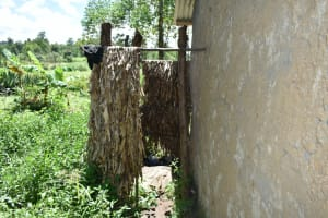 The Water Project: Shikokhwe Community, Mulika Spring -  Bathing Room Made Of Dry Maize Stalks