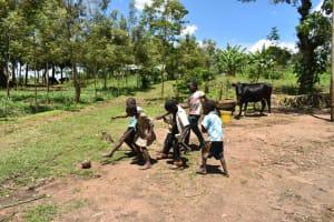The Water Project: Shikokhwe Community, Mulika Spring -  Children Playing