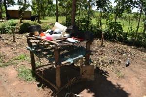 The Water Project: Shikokhwe Community, Mulika Spring -  Dishrack