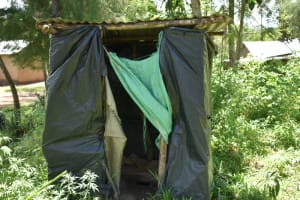 The Water Project: Shikokhwe Community, Mulika Spring -  Latrine