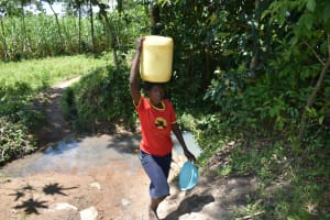 The Water Project: Shikokhwe Community, Mulika Spring -  Leaving The Spring