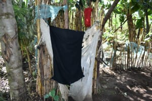 The Water Project: Malekha West Community, Soita Spring -  Bathing Room Shelter