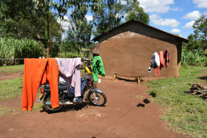 The Water Project: Malekha West Community, Soita Spring -  Clothesline