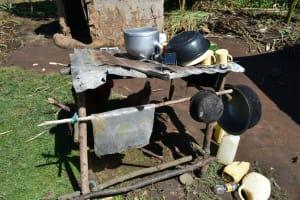 The Water Project: Malekha West Community, Soita Spring -  Dishrack