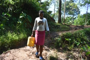 The Water Project: Malekha West Community, Soita Spring -  Heading To The Spring