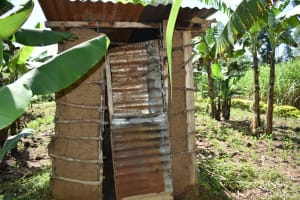 The Water Project: Malekha West Community, Soita Spring -  Latrine