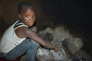 The Water Project: Malekha West Community, Soita Spring -  Lizz At The Fireplace