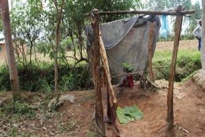 The Water Project: Bukhaywa Community, Violet Inganji Spring -  Bathing Shelter