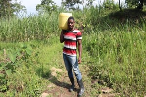 The Water Project: Bukhaywa Community, Violet Inganji Spring -  Carrying Water