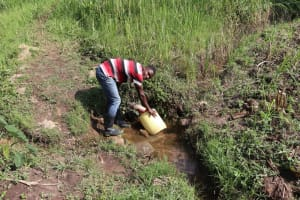 The Water Project: Bukhaywa Community, Violet Inganji Spring -  Collecting Water