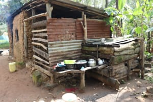 The Water Project: Bukhaywa Community, Violet Inganji Spring -  Dishrack
