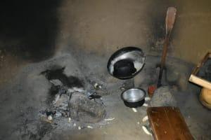 The Water Project: Bukhaywa Community, Violet Inganji Spring -  Fireplace Inside Kitchen