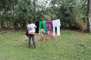The Water Project: Bukhaywa Community, Violet Inganji Spring -  Hanging Clothes To Dry