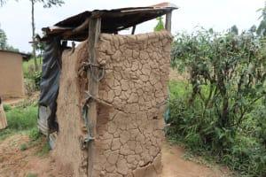 The Water Project: Bukhaywa Community, Violet Inganji Spring -  Mud Walled Latrine