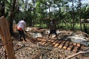 The Water Project: Bukhaywa Community, Violet Inganji Spring -  Brick Making Business