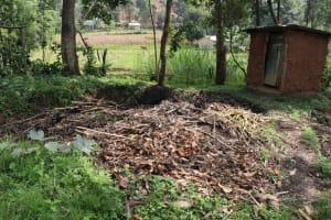 The Water Project: Bukhaywa Community, Violet Inganji Spring -  Garbage Pit