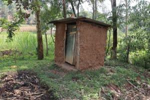 The Water Project: Bukhaywa Community, Violet Inganji Spring -  Latrine