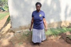 The Water Project: Bukhaywa Community, Violet Inganji Spring -  Xpring Landowner Violet Inganji
