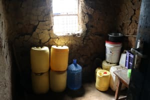 The Water Project: Bukhaywa Community, Violet Inganji Spring -  Water Storage Containers
