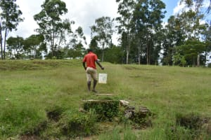 The Water Project: Luyeshe North Community, Reuben Endeche Spring -  Carrying Water