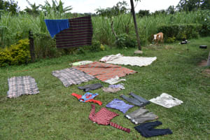 The Water Project: Luyeshe North Community, Reuben Endeche Spring -  Clothes Drying