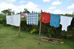 The Water Project: Luyeshe North Community, Reuben Endeche Spring -  Clothesline