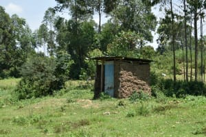 The Water Project: Luyeshe North Community, Reuben Endeche Spring -  Latrine