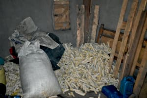 The Water Project: Luyeshe North Community, Reuben Endeche Spring -  Maize Cobs For Firewood