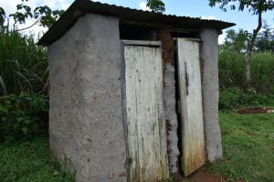 The Water Project: Luyeshe North Community, Reuben Endeche Spring -  Toilet