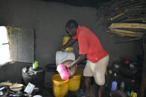 The Water Project: Luyeshe North Community, Reuben Endeche Spring -  Storing Water