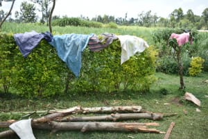 The Water Project: Shihome Community, Oloo Njinuli Spring -  Clothes Out Drying