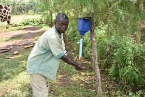 The Water Project: Shihome Community, Oloo Njinuli Spring -  John Washing His Hands