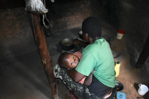 The Water Project: Shihome Community, Oloo Njinuli Spring -  A Mother Preparing Food