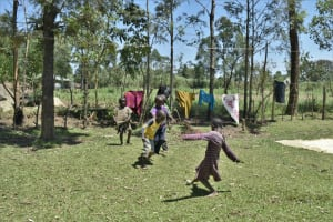 The Water Project: Shianda Community, Govet Lumbasi Spring -  Children Playing